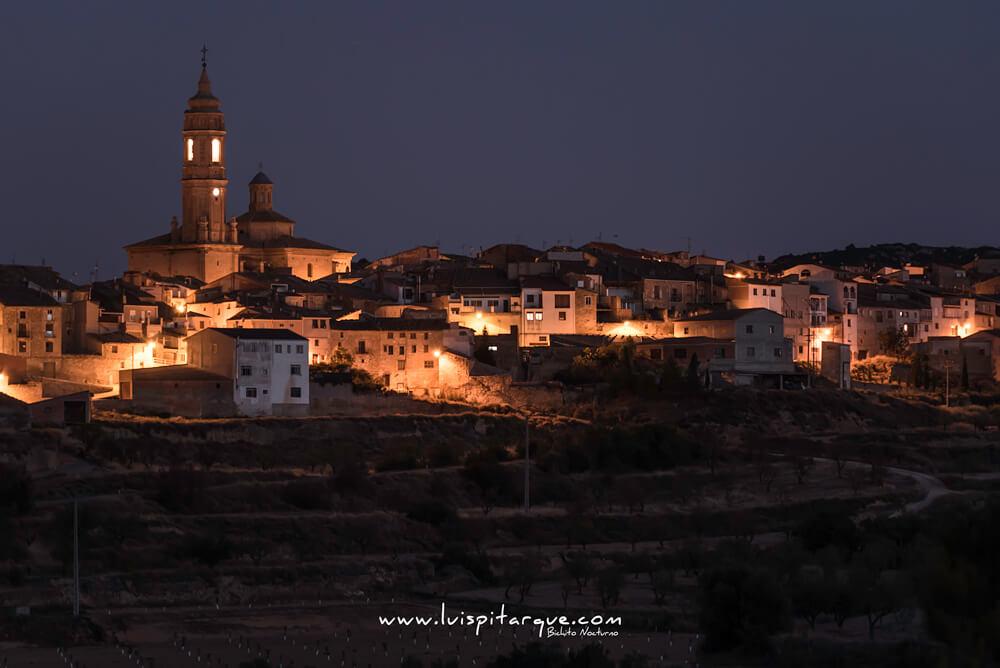 Vista nocturna de Valdealgorfa