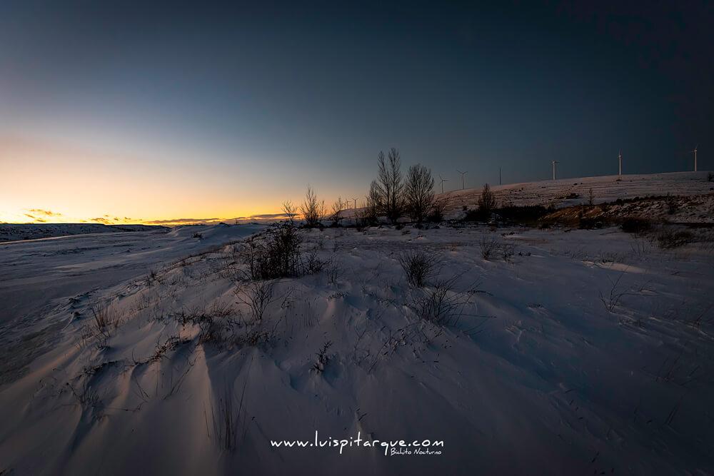 Campo nevado de Teruel
