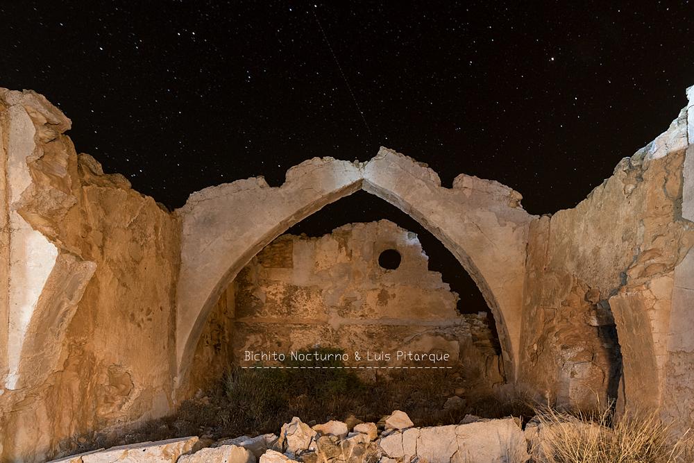 Una noche en la ermita de San Cristobal de Alloza, Teruel